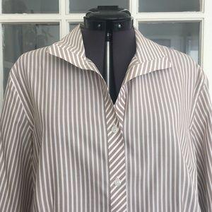 Chico's 100% cotton Striped Shirt